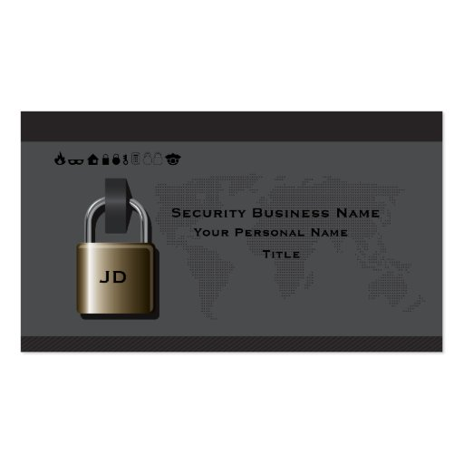 Security business business card zazzle for Cctv business card
