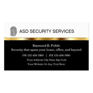 Security Business Cards