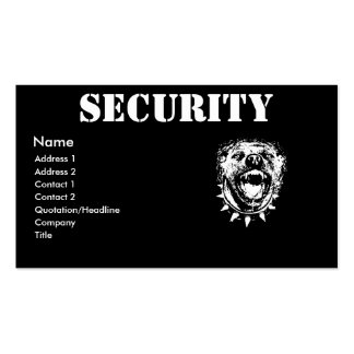 Security Business Profile Card Business Card