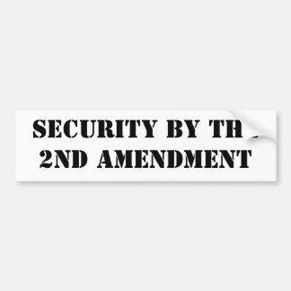Security by the2nd Amendment Bumper Sticker