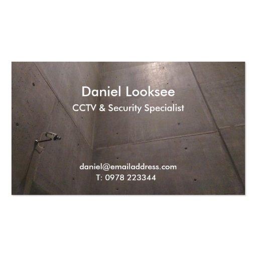 Online security guard business cards bizcardstudiocouk for Cctv business card