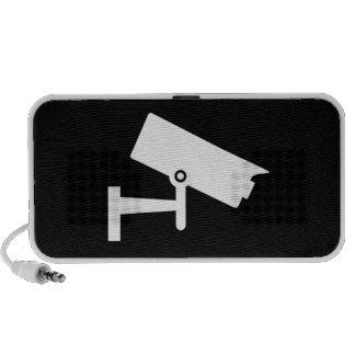 Security Camera Pictogram Doodle Speaker