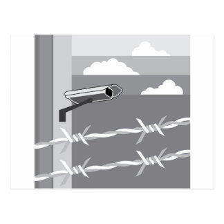 Security Camera. Secure Facility. Postcard