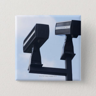 Security cameras 15 cm square badge