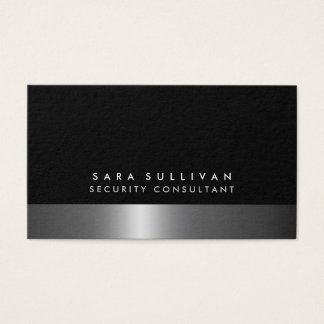 Security Consultant Bold DarkChrome SilverServices Business Card