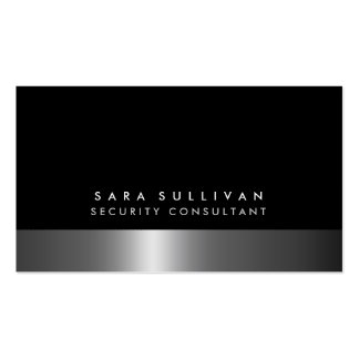 Security Consultant Bold DarkChrome SilverServices Pack Of Standard Business Cards
