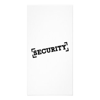 Security Customised Photo Card
