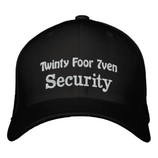 Security Embroidered Baseball Caps