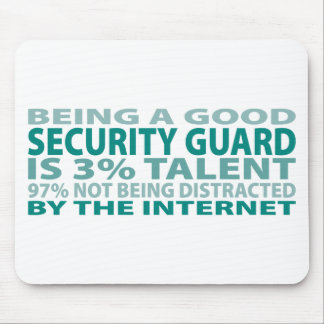 Security Guard 3 Talent Mouse Pads