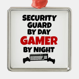 Security Guard by Day Gamer by Night Christmas Ornament