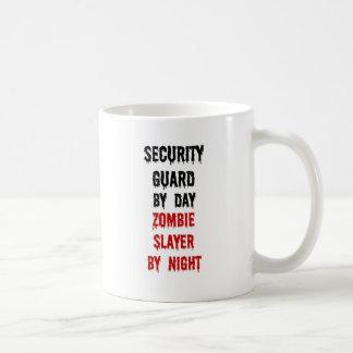 Security Guard Zombie Slayer Basic White Mug