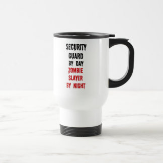 Security Guard Zombie Slayer Stainless Steel Travel Mug