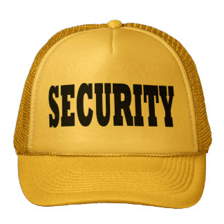 Security Hat - black text