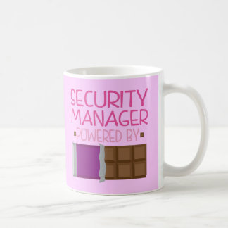Security Manager Chocolate Gift for Her Coffee Mug