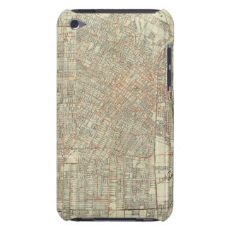 Security map and Street Railways in Los Angeles Case-Mate iPod Touch Case