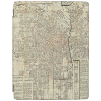 Security map and Street Railways in Los Angeles iPad Cover