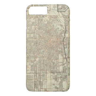 Security map and Street Railways in Los Angeles iPhone 8 Plus/7 Plus Case