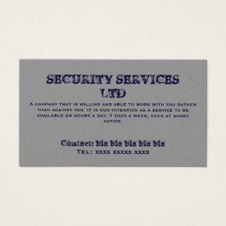SECURITY SERVICES LTD , Contact: bla bla bla bl... Business Card