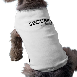 Security T-Shirt for Dogs Sleeveless Dog Shirt