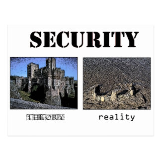 Security - Theory and Reality Postcard