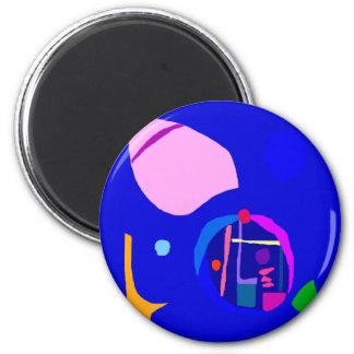 Sedate Clock Cherry Petal Fortune Telling 6 Cm Round Magnet