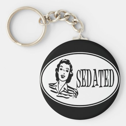 Sedated Retro Housewife Key Chains