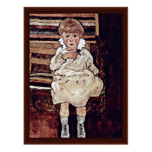 Sedentary Children By Schiele Egon Postcards