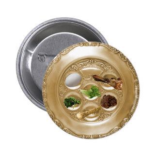 Seder Plate 6 Cm Round Badge