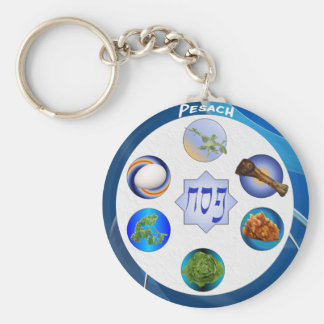 Seder Plate Basic Round Button Key Ring