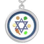 Seder Plate Round Pendant Necklace