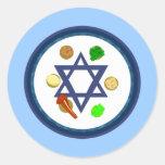 Seder Plate Round Sticker