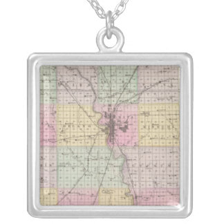 Sedgwick County, Mount Hope, and Derby, Kansas Silver Plated Necklace