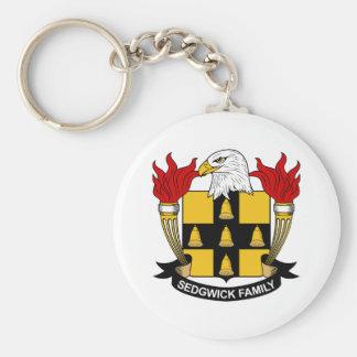 Sedgwick Family Crest Basic Round Button Key Ring