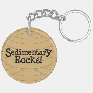 Sedimentary Rocks! Double-Sided Round Acrylic Key Ring
