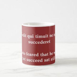 Sedit qui timuit ne non coffee mug