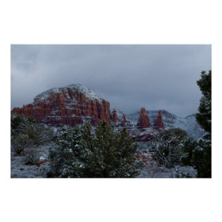 Sedona Arizona with Snow 2789 Poster