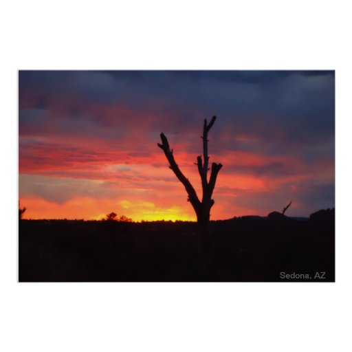 Sedona, AZ. Sunset Poster