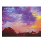 Sedona AZ Sunset  Psalm 19:1  POSTER PRINT