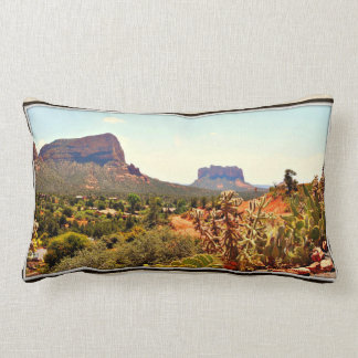 Sedona Cactus and Rock Lumbar Pillow