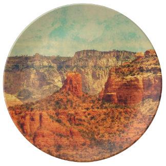 Sedona in Grunge Porcelain Plate