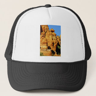 Sedona Mountain landscape alien statue Trucker Hat
