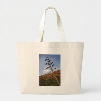 Sedona Mountains Century plant Canvas Bags
