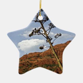Sedona Mountains Century plant Christmas Ornament