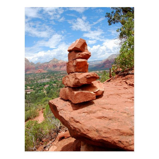 Sedona Stacked Red Rocks Post Card