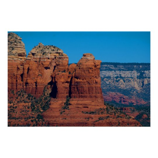Sedona's Coffee Pot Rock 3774 Poster