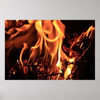 Seductive Flames Print