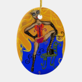 Seductive Sienna Ceramic Oval Decoration