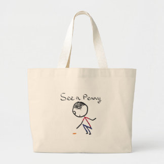 See a Penny Large Tote Bag