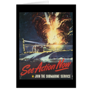 See Action Now World War II Stationery Note Card