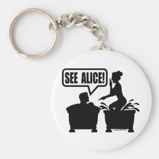 SEE ALICE BASIC ROUND BUTTON KEY RING